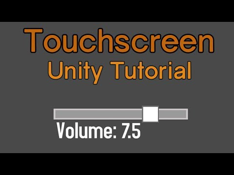 Unity Touchscreen Tutorial: Slider