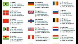 Curso De Francés Países Y Nacionalidades En Francés Vocabulario Pays Et Nationalités Youtube