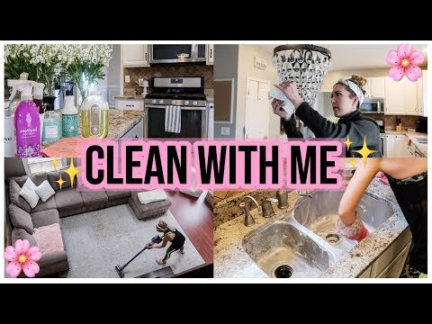 CLEAN WITH ME 2019! EXTREME SPRING CLEANING MOTIVATION + CHECKLIST! KITCHEN DEEP CLEAN | Brianna K