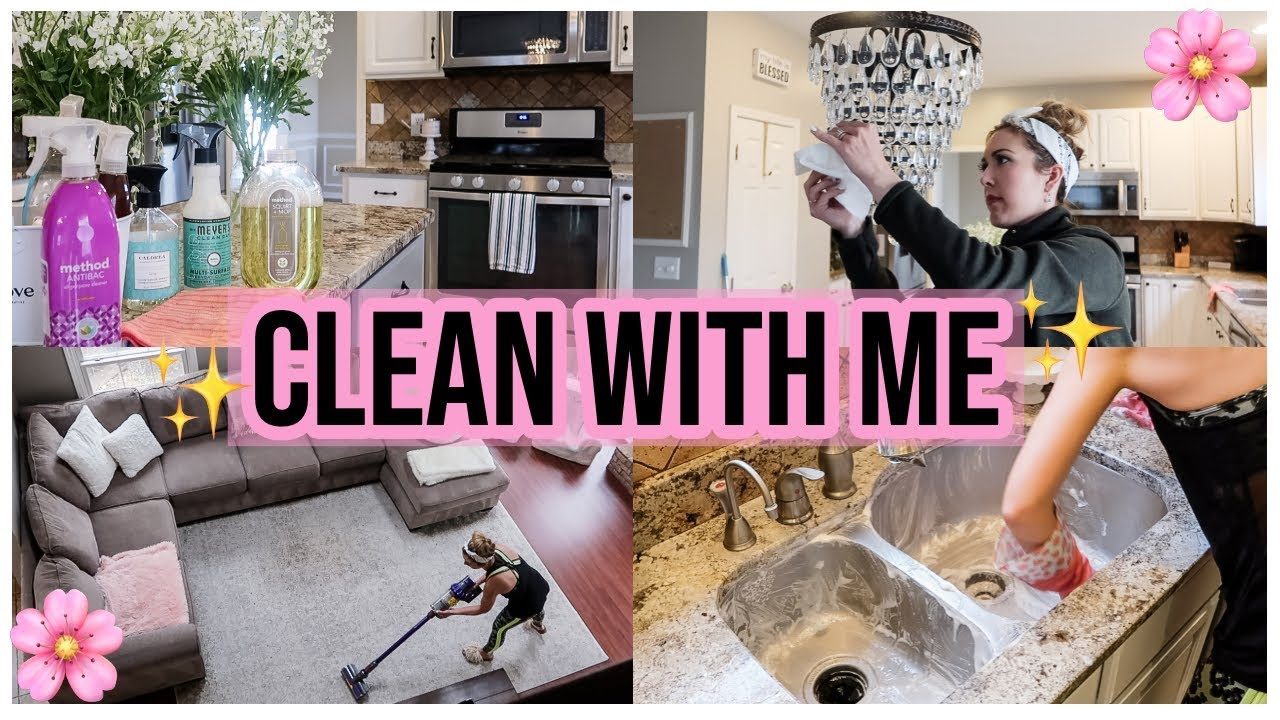 Clean With Me 2019 Extreme Spring Cleaning Motivation Checklist Kitchen Deep Clean Brianna K