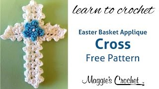 Easter Cross Applique Free Crochet Pattern - Right Handed