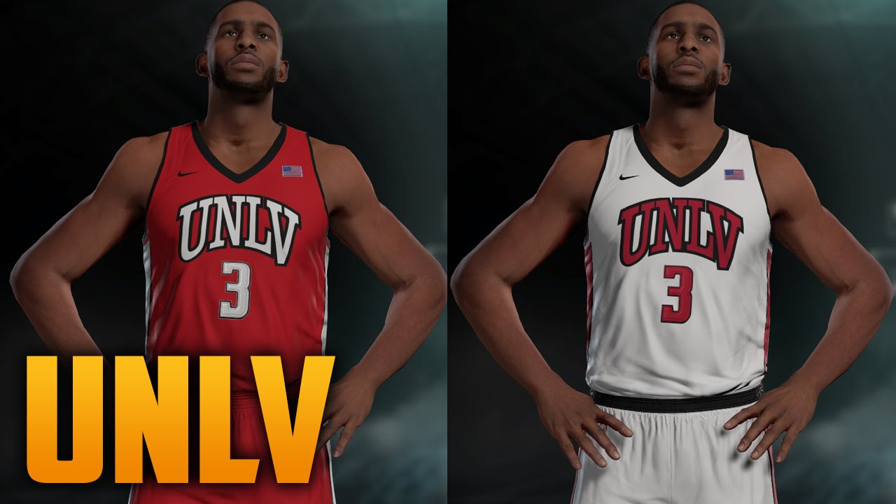 timeless design 312aa 5a983 NBA 2K16 UNLV Rebels Jersey & Court Tutorial