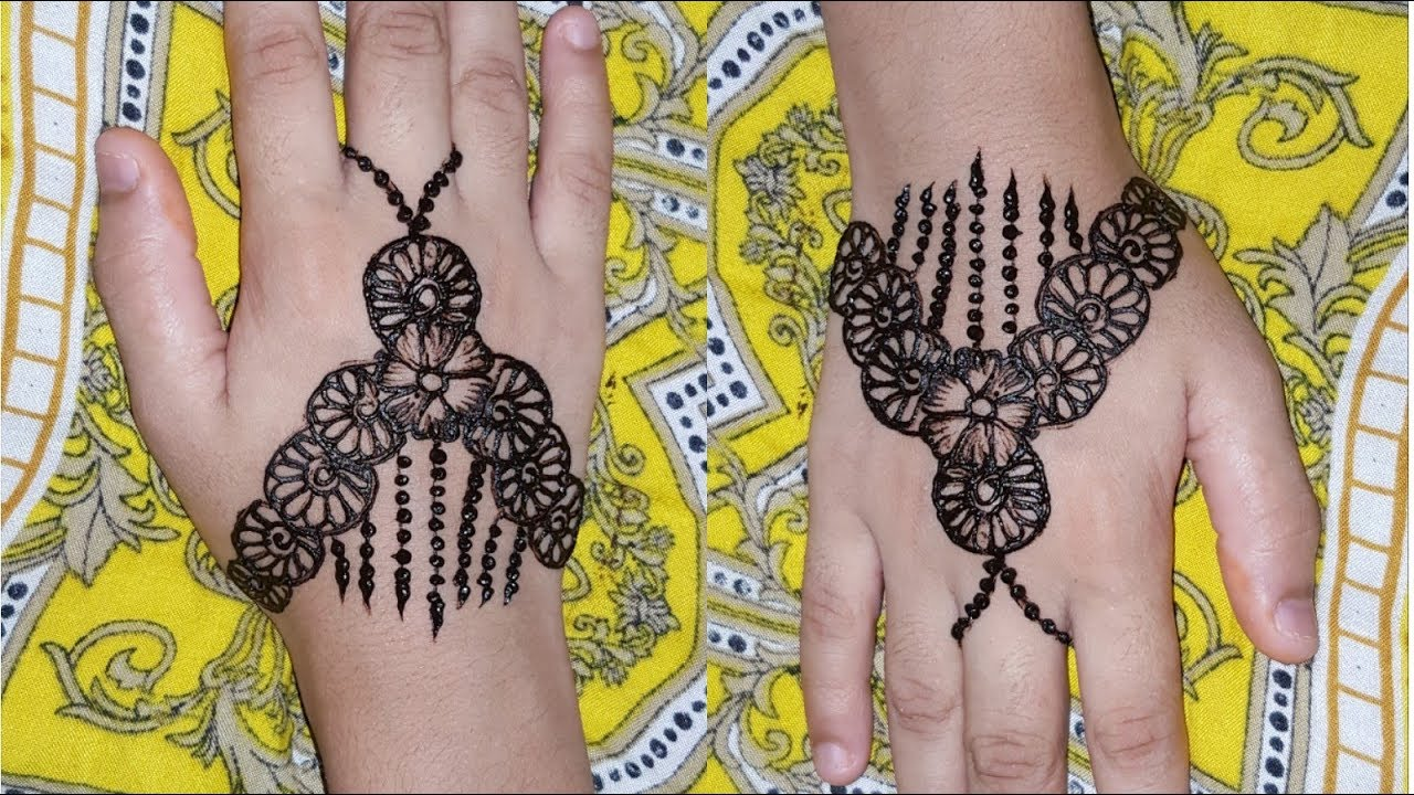 948bd07ab4861 2 very easy mehndi design for small baby girls//stylsh mehndi design for  kids 2018