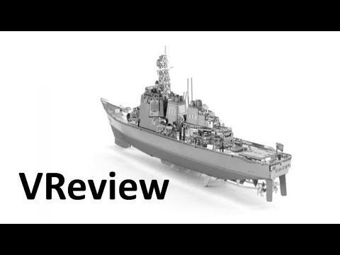 Aipin DIY 3D Metal Puzzle Stainless Steel Assembled Model Destroyers Silver Color