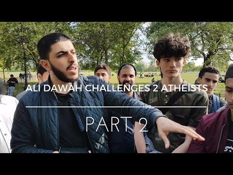 | PART 2 | Ali Dawah Challenges 2 Atheists | Speakers Corner |