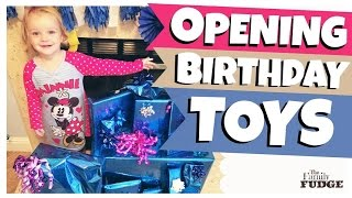 BIRTHDAY MORNING PRESENT OPENING || Educational + PRANK Gifts || 3 Year Old