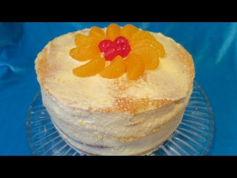 Mandarin Orange Chiffon Frosting and Cake