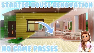 Bloxburg | I Renovated the Starter House into a Beach House! 34k No Game Passes