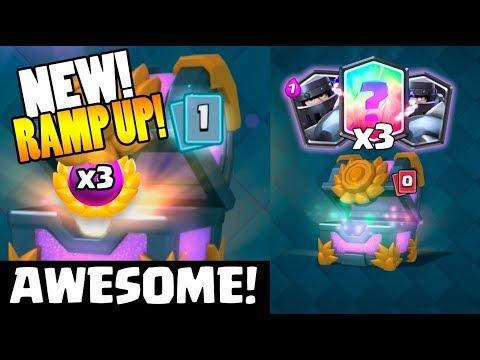 NEW ''RAMP UP'' CHALLENGE :: Clash Royale :: X3 LEGENDARY MEGA KNIGHT + LEGENDARY CHEST OPENING!