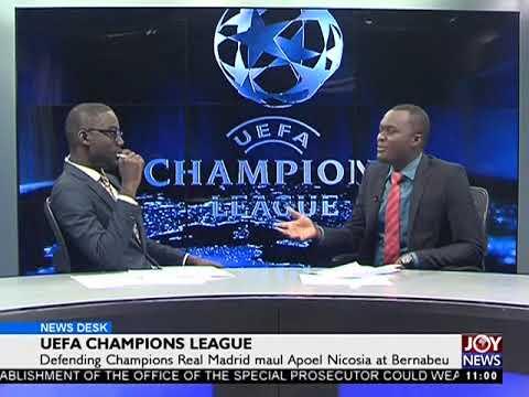 UEFA Champions League - Sports Desk on Joy News (14-9-17)