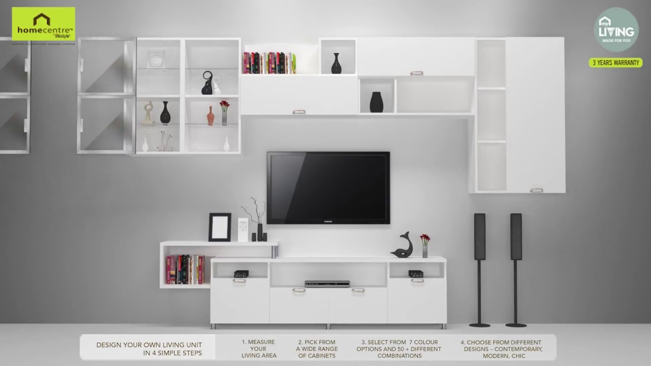 Modular Wall and TV units - YouTube