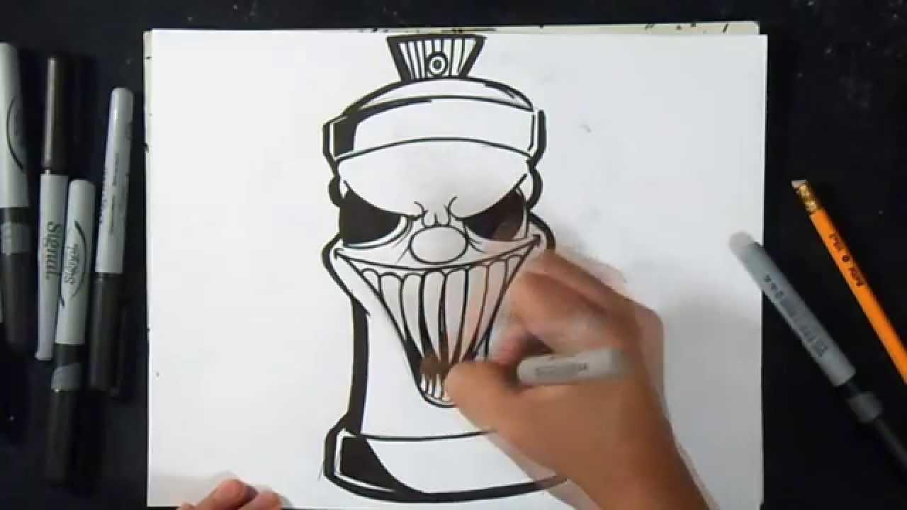 Wie Zu Zeichnen Sprühdose Graffiti