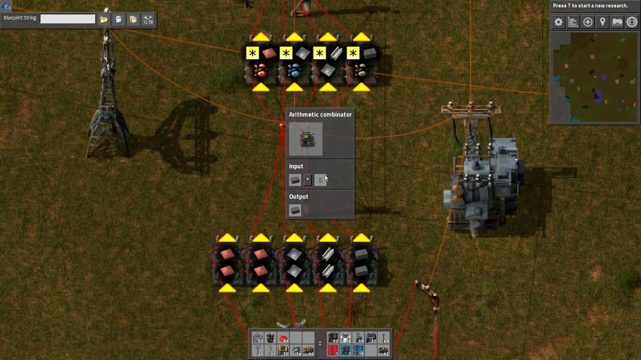 Four Resource Smart Smelting - Factorio