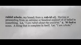 Welcome to the rabid whole...