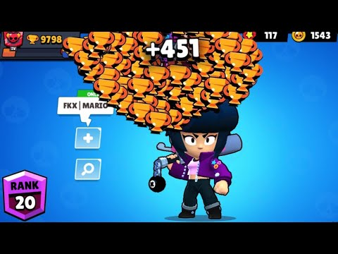 BIBI NONSTOP To 500 Trophies! Brawl Stars