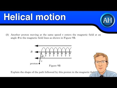 Advanced Higher Physics - Helical motion of a charged particle in a magnetic field