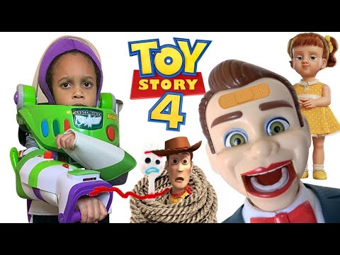 Toy Story 4 Benson and Gabby Gabby Took My Toy Story 4 Toys | Buzz Lightyear Armor and Jet Pack! |