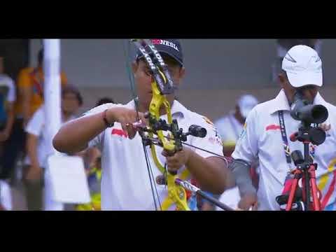 Perebutan Medali Emas Indonesia Vs Malaysia Archery Sea Games 2017