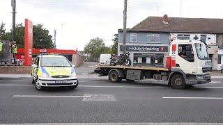 VIDEO: Motorbike is taken from scene of fatal collision on the Malahide Road
