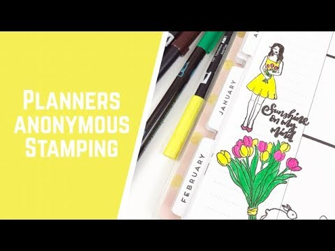 Planners anonymous stamping youtube for Planners anonymous