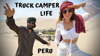 TRUCK CAMPER life in Peru // Exploring Huacachina Oasis and Nazca Lines