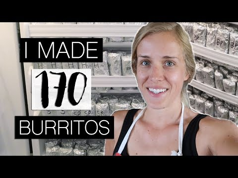 MEAL PREPPING 170 BREAKFAST BURRITOS! | Jordan Cornwell
