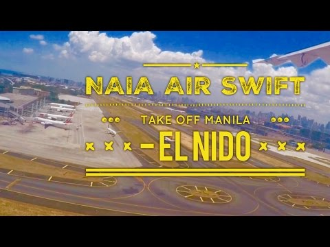 NAIA Manila Take Off Air Swift Flight Manila to EL Nido ATR 42-600 by HourPhilippines.com