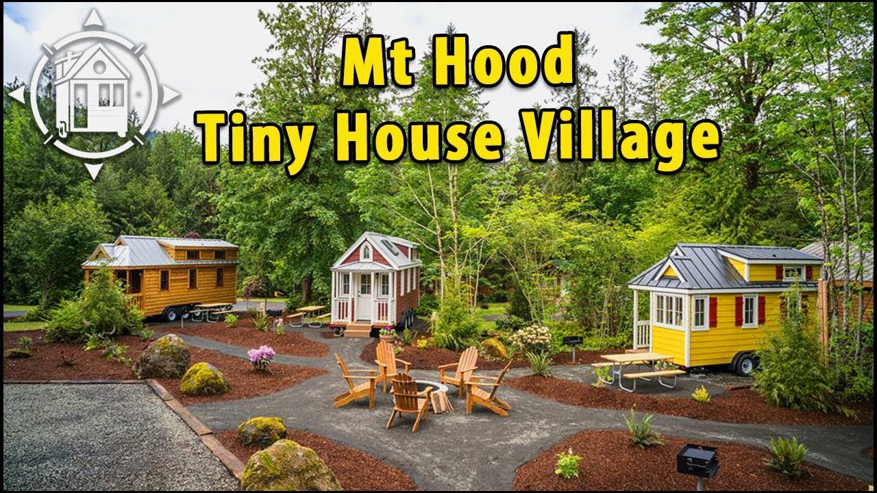 Tiny House Village in Oregon with five tiny house rentals YouTube