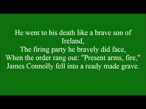 James Connolly with lyrics