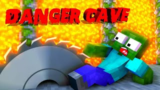 Monster School : DANGER CAVE CHALLENGE - Minecraft Animation