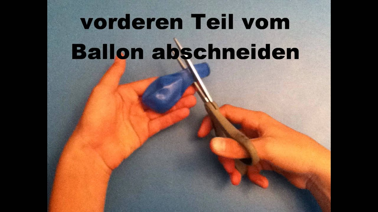Ballonschleuder selber bauen - YouTube