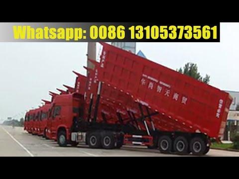 China factory durable tipper semi trailer & how rear dump trailer work