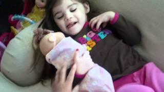 Sienna Dezio having a pretend doll baby (part 2) 3 years old