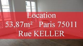 Ack feeling #17#, Location rue Keller 75011 Bastille  3 Pieces 54 m² Mp3
