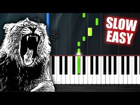 Martin Garrix - Animals - SLOW EASY Piano Tutorial by PlutaX