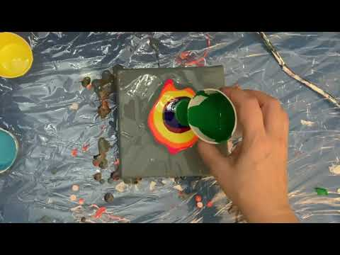 Acrylic pour on canvas – Dutch pour – Abstract art -26