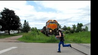 Kids Racing To Beat A Train | Jason Asselin