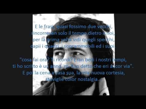 Guccini - incontro con testo (lyrics)