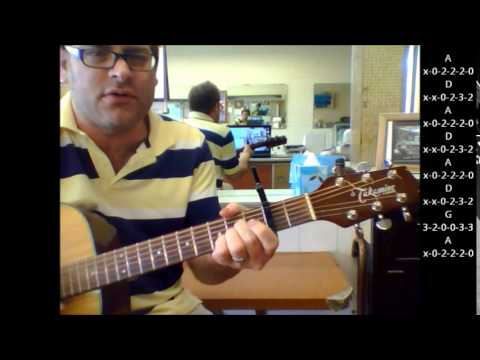 How To Play I Wanna Be Sedated By The Ramones On Acoustic Guitar