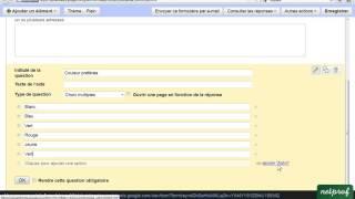 Création de formulaire en ligne avec Google documents