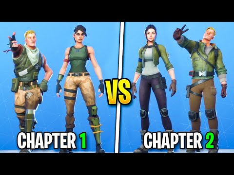 Fortnite OLD Default Vs NEW Default SKINS! (Chapter 1-2) Fortnite Battle Royale