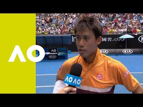 Nishikori on-court interview (1R)   Australian Open 2019