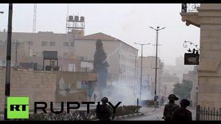 Raining Tear Gas: IDF clash with Palestinians in Bethlehem