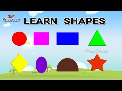 Learn SHAPES For Kids | Shapes Name With Spelling | SHAPES Names In English | Preschool Learning