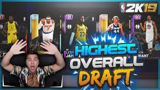 NBA 2K19 HIGHEST OVERALL DRAFT! CLUTCH COMEBACK!