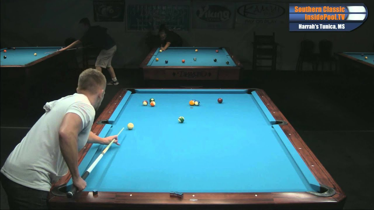 Max eberle vs thorsten hohmann 14 1 straight pool on 10 for 10 foot pool table