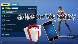 Fortnite Mobile GIFTING IS OUT HOW TO GET IT Gifting System