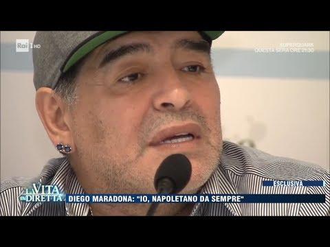 """Diego Armando Maradona: """"io napoletano da sempre"""" - La Vita in Diretta 05/07/017"""
