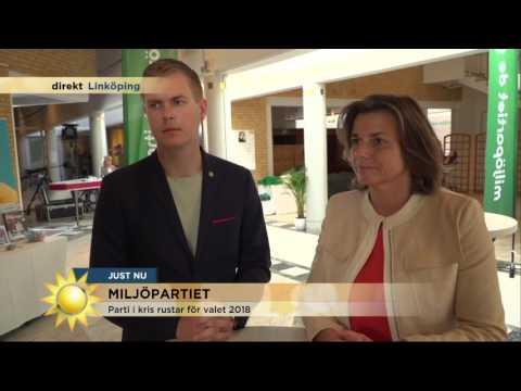 Miljöpartiet i kris inför valet 2018 - Nyhetsmorgon (TV4)