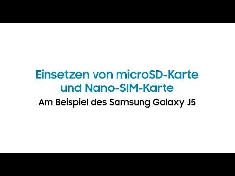 Samsung J5 Sd Karte.Samsung Galaxy J5 Einsetzen Von Microsd Karte Und Nano Sim Karte
